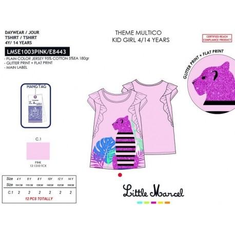 Camiseta mg corta little marcel - Little Marcel - NFV-LMSE1003PINK
