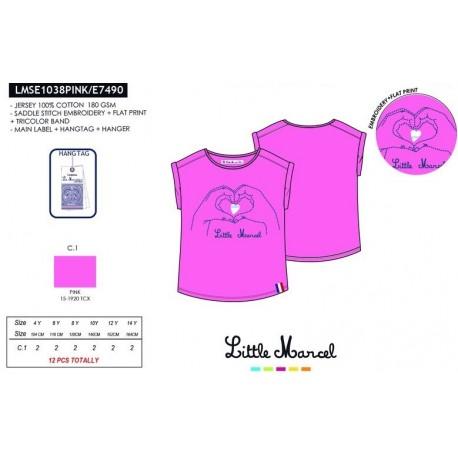Camiseta mg corta little marcel - Little Marcel - NFV-LMSE1038PINK