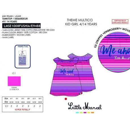 Camiseta tirantes little marcel - Little Marcel - NFV-LMSE1008FUSHIA