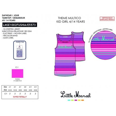 Camiseta tirantes little marcel - Little Marcel - NFV-LMSE1002FUSHIA