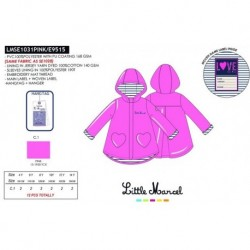 NFV-LMSE1031PINK mayoristas ropa de niña Chaqueta little