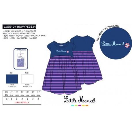 NFV-LMSE1044NAVY venta al por mayor de ropa infantil Vestido