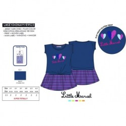 NFV-LMSE1043NAVY venta al por mayor de ropa infantil Vestido