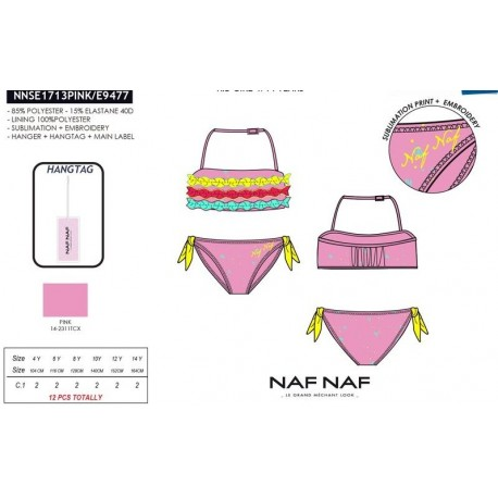NFV-NNSE1713PINK ropa de licencias al por mayor Bikini naf naf