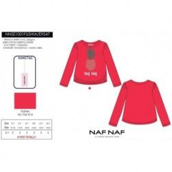 Camiseta manga larga naf naf - Naf Naf - NFV-NNSE1001FUSHIA