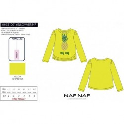 NFV-NNSE1001YELLOW mayoristas de moda infantil Camiseta manga