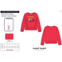 NFV-NNSE1008FUSHIA mayoristas de moda infantil Camiseta manga