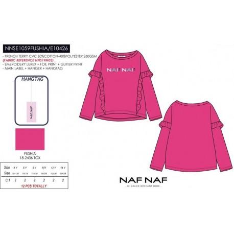 NFV-NNSE1059FUSHIA mayoristas de moda infantil Camiseta manga