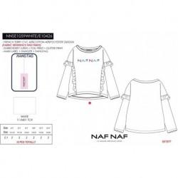 NFV-NNSE1059WHITE mayoristas de moda infantil Camiseta manga