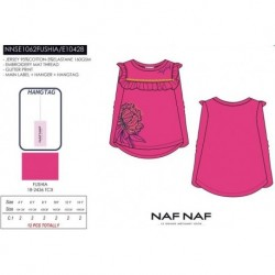 NFV-NNSE1062FUSHIA mayoristas de moda infantil Camiseta manga