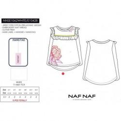 Camiseta manga larga naf naf - Naf Naf - NFV-NNSE1062WHITE