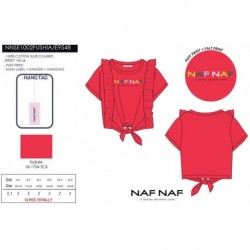 Camiseta mg corta naf naf - Naf Naf - NFV-NNSE1002FUSHIA