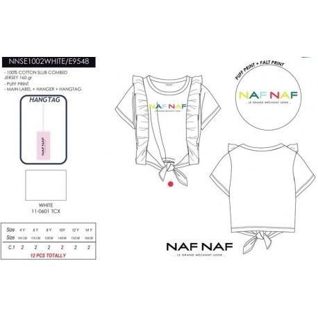 Camiseta mg corta naf naf - Naf Naf - NFV-NNSE1002WHITE