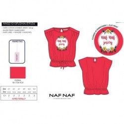 Camiseta mg corta naf naf - Naf Naf - NFV-NNSE1010FUSHIA