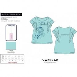Camiseta mg corta naf naf - Naf Naf - NFV-NNSE1017LBLUE