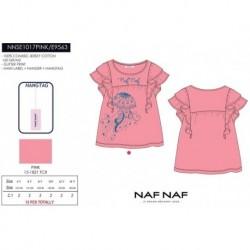 Camiseta mg corta naf naf - Naf Naf - NFV-NNSE1017PINK