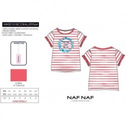 Camiseta mg corta naf naf - Naf Naf - NFV-NNSE1018CORAL