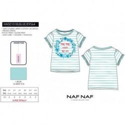 Camiseta mg corta naf naf - Naf Naf - NFV-NNSE1018LBLUE