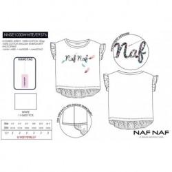 Camiseta mg corta naf naf - Naf Naf - NFV-NNSE1030WHITE