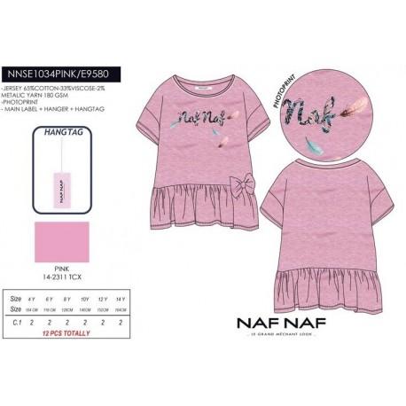 Camiseta mg corta naf naf - Naf Naf - NFV-NNSE1034PINK
