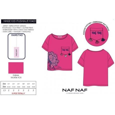Camiseta mg corta naf naf - Naf Naf - NFV-NNSE1051FUSHIA
