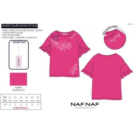 Camiseta mg corta naf naf - Naf Naf - NFV-NNSE1064FUSHIA