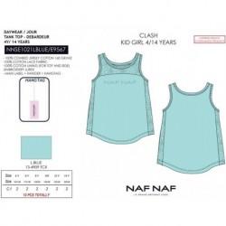 Camiseta tirantes naf naf - Naf Naf - NFV-NNSE1021LBLUE