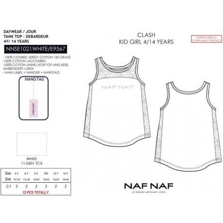 Camiseta tirantes naf naf - Naf Naf - NFV-NNSE1021WHITE