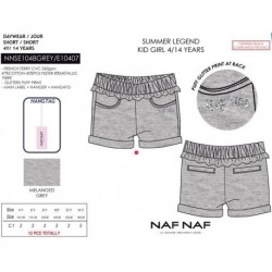 Pantalon corto naf naf - Naf Naf - NFV-NNSE1048GREY