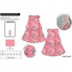 NFV-NNSE1024PINK venta al por mayor de ropa infantil Vestido