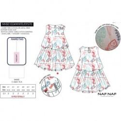 NFV-NNSE1024WHITE venta al por mayor de ropa infantil Vestido