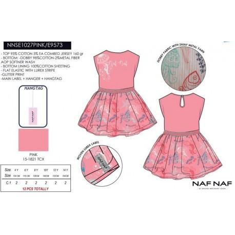 NFV-NNSE1027PINK venta al por mayor de ropa infantil Vestido
