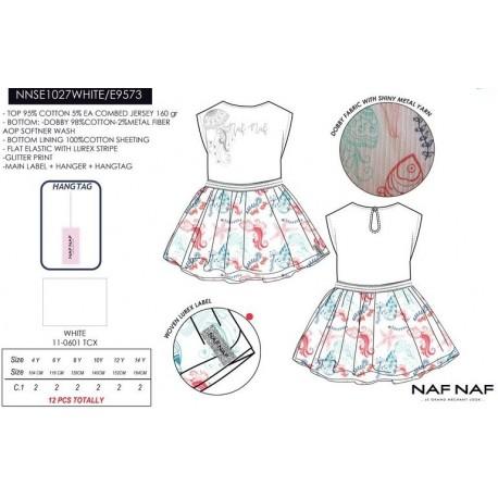 NFV-NNSE1027WHITE venta al por mayor de ropa infantil Vestido