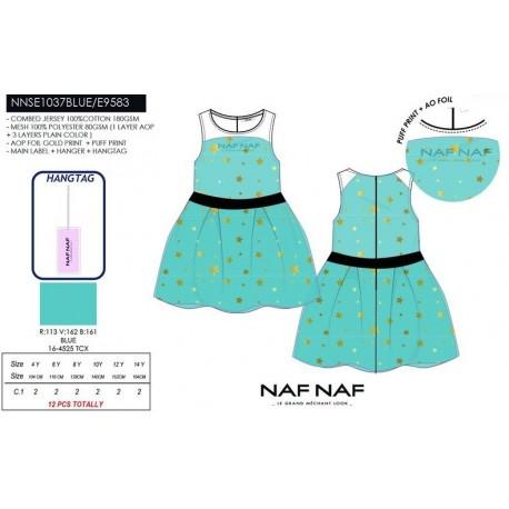 NFV-NNSE1037BLUE venta al por mayor de ropa infantil Vestido