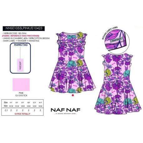 NFV-NNSE1055LPINK venta al por mayor de ropa infantil Vestido