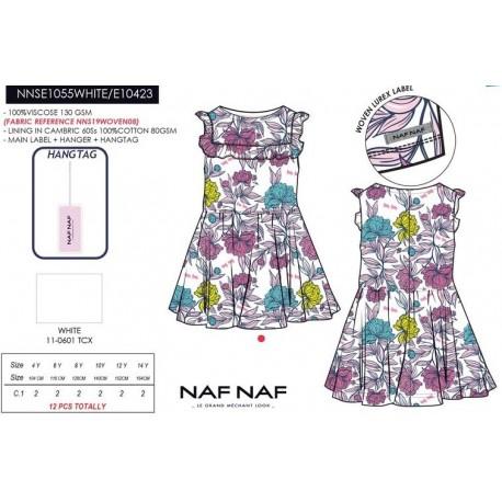 NFV-NNSE1055WHITE venta al por mayor de ropa infantil Vestido