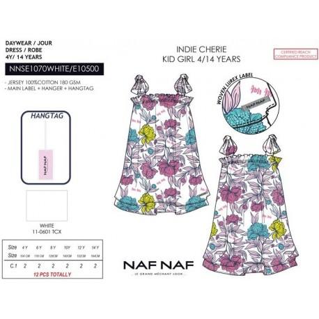 NFV-NNSE1070WHITE venta al por mayor de ropa infantil Vestido