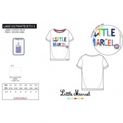 Camiseta mg corta little marcel