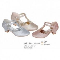 Zapato fantasia tacon bajo - Bubble - BBV-A2134-L