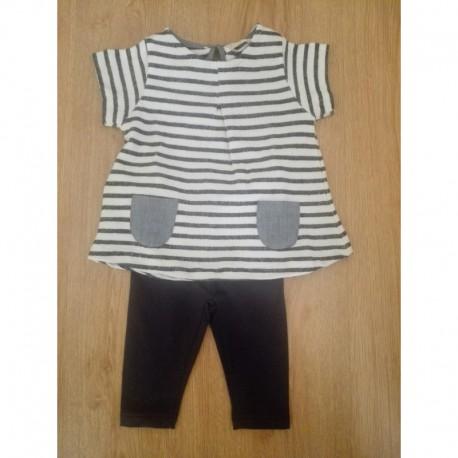 Conjunto camisola manga corta y leggins