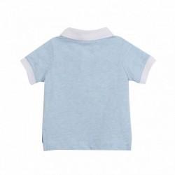 Polo azul con bolsillo pez - Newness - BBV68053