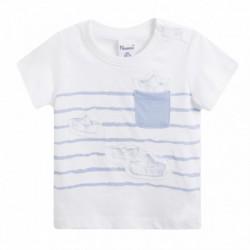 Camiseta rayas barcos con bolsillo - Newness - BBV69093