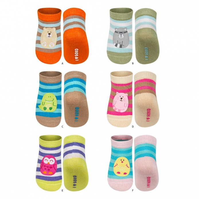 Calcetines bebe rayas con patch - Soxo - SXV-58286
