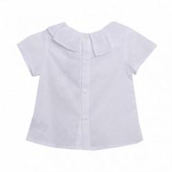 Conjunto camisa plumeti cuello volante y pantalon corto