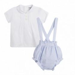 Conjunto camisa y pinocho rayas