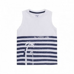Camiseta sin manga rayas - Newness - JBV68235