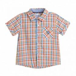 Camisa cuadros naranjas - Newness - JBV98233