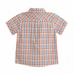 Camisa cuadros naranjas