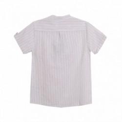 Camisa cuello mao liso lino medio abierto