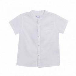 Camisa cuello mao liso lino